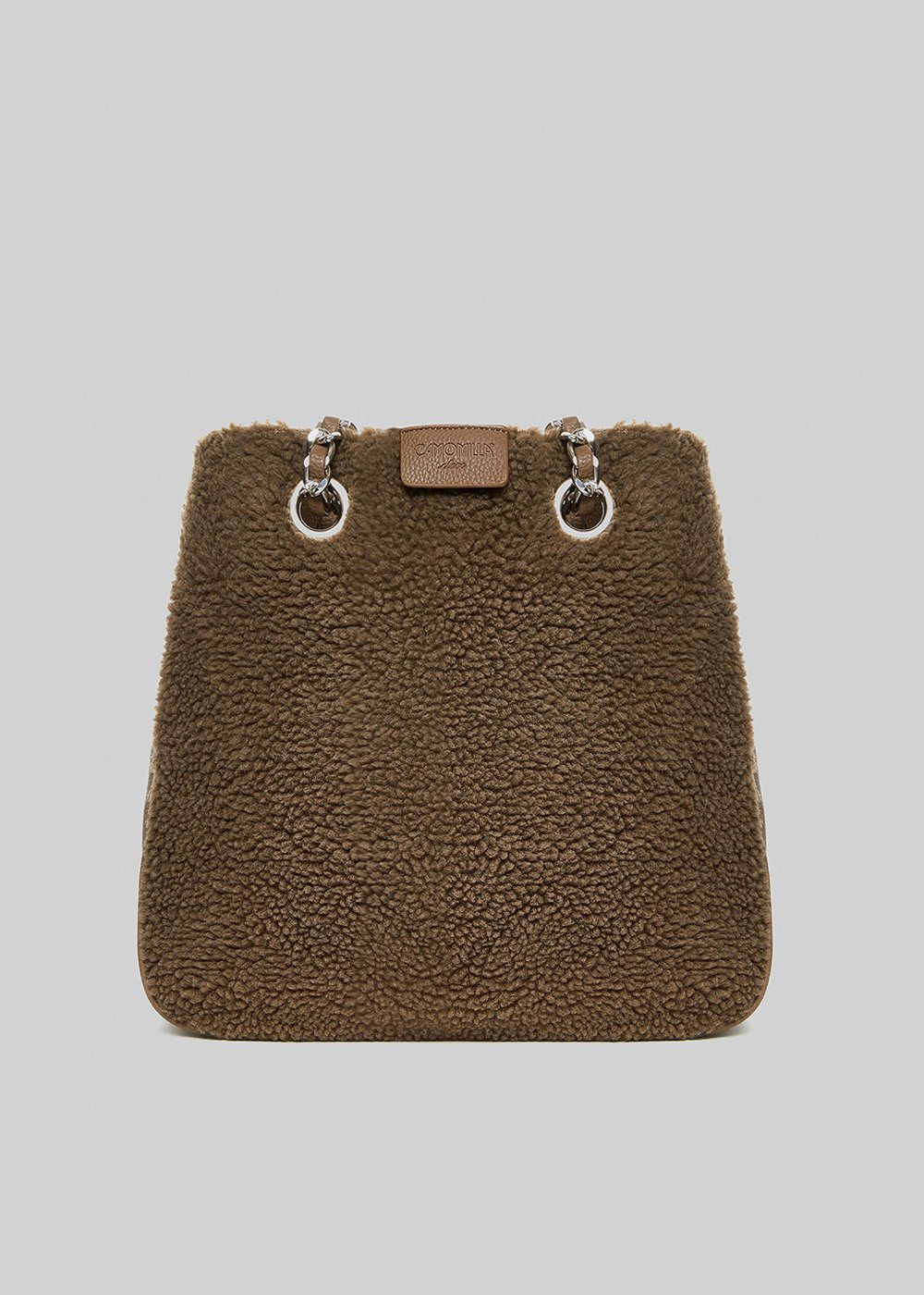 Bonn bag in faux fur with chain handles - Falcon