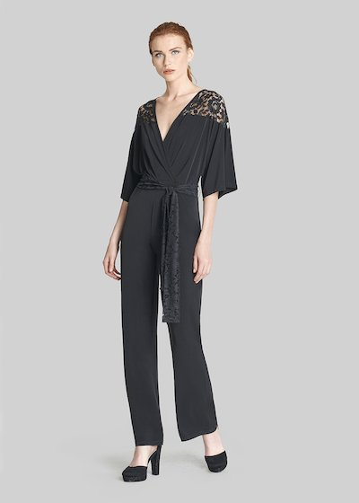 Taiger jersey jumpsuit with 3/4 sleeves