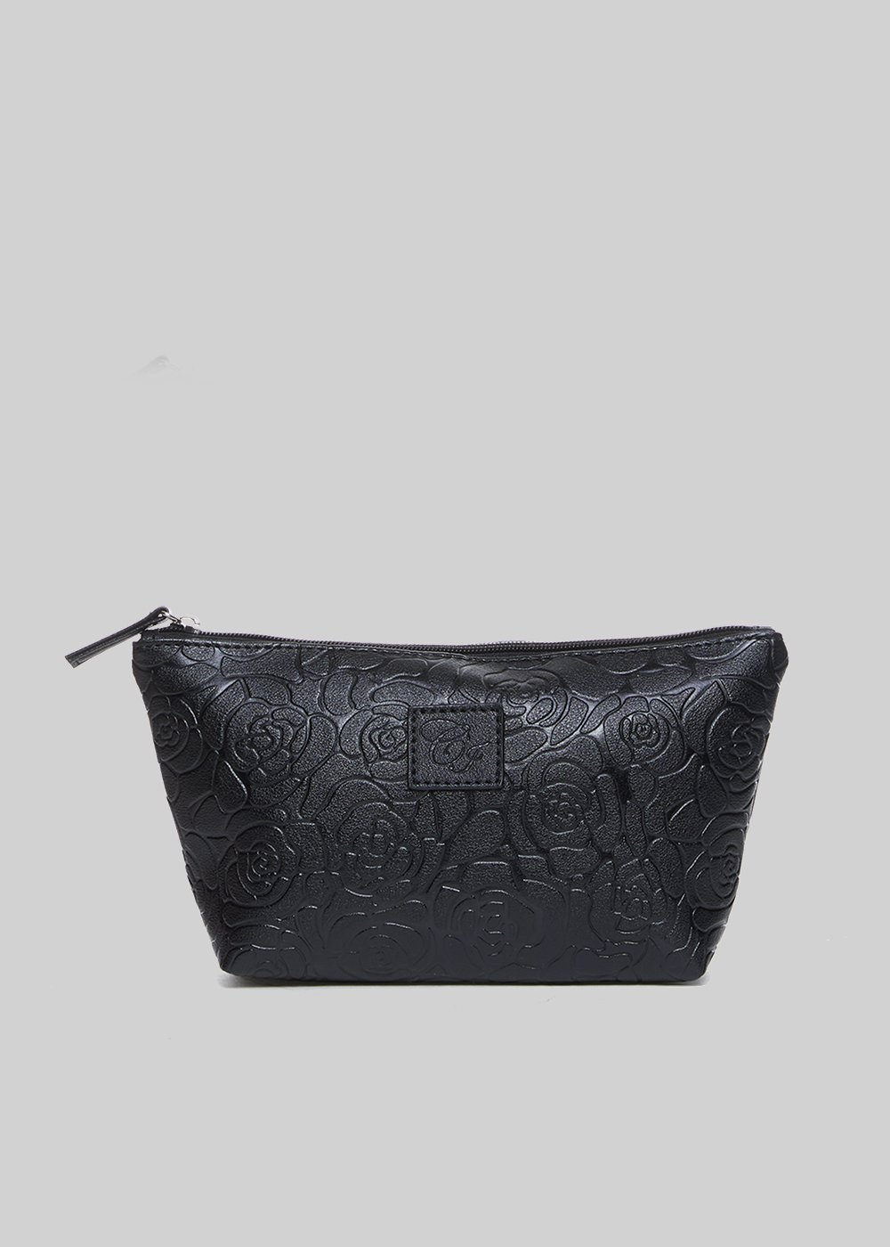 Beauty Blur in faux leather roses embossed - Black