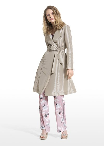 Thomas trench coat with waist belt