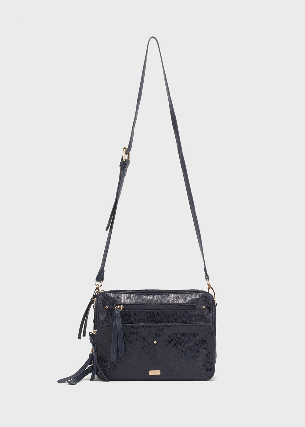 Being multi-compartment bag - Medium Blue Animalier - Woman