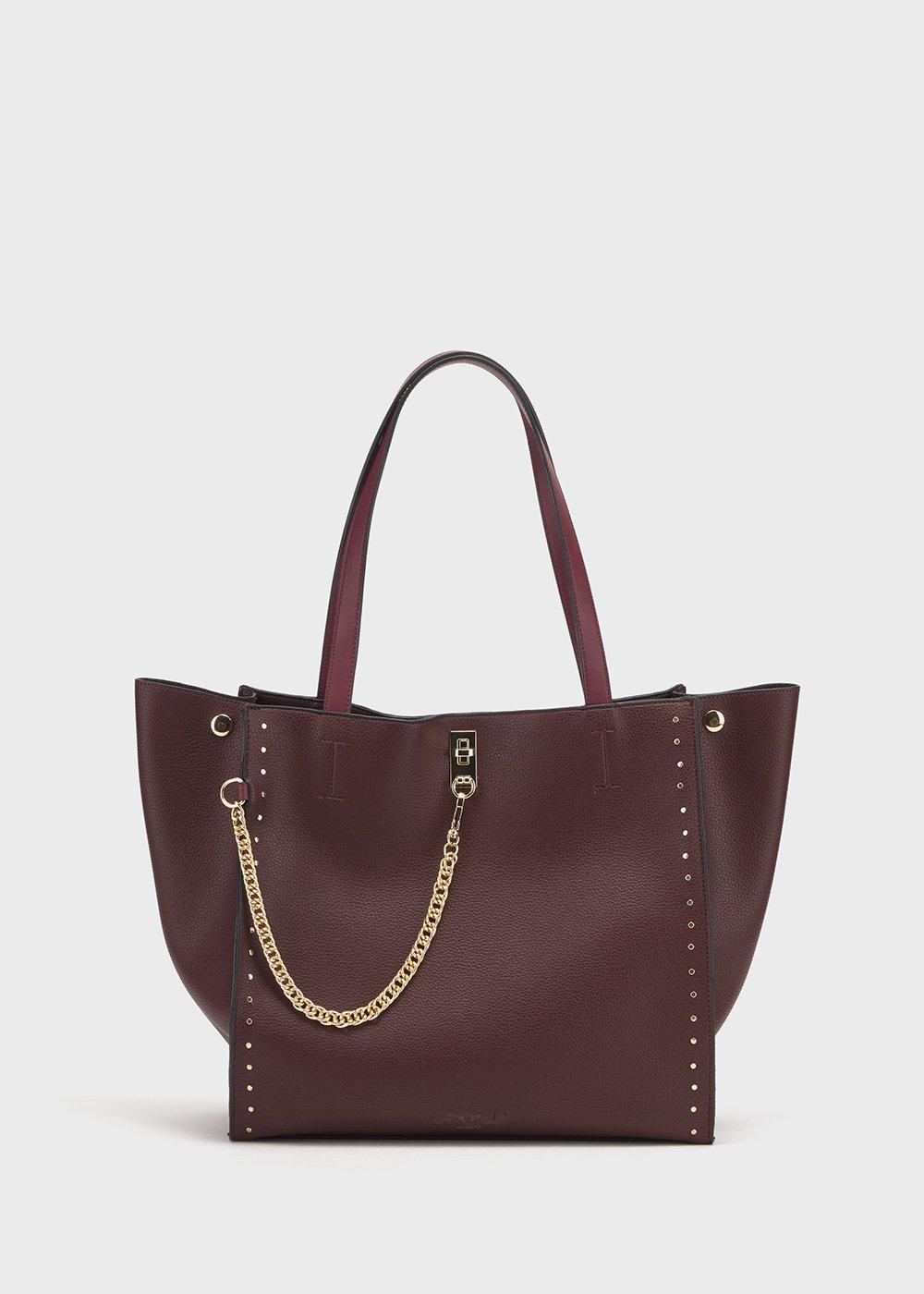 Brian shopping bag with deer print - Black cherry - Woman
