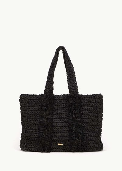 Brenda raffia shopping bag