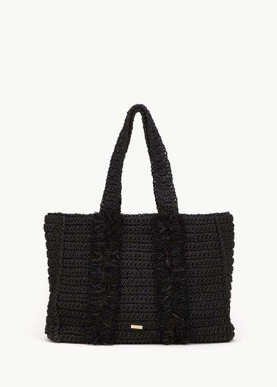 Brenda raffia shopping bag