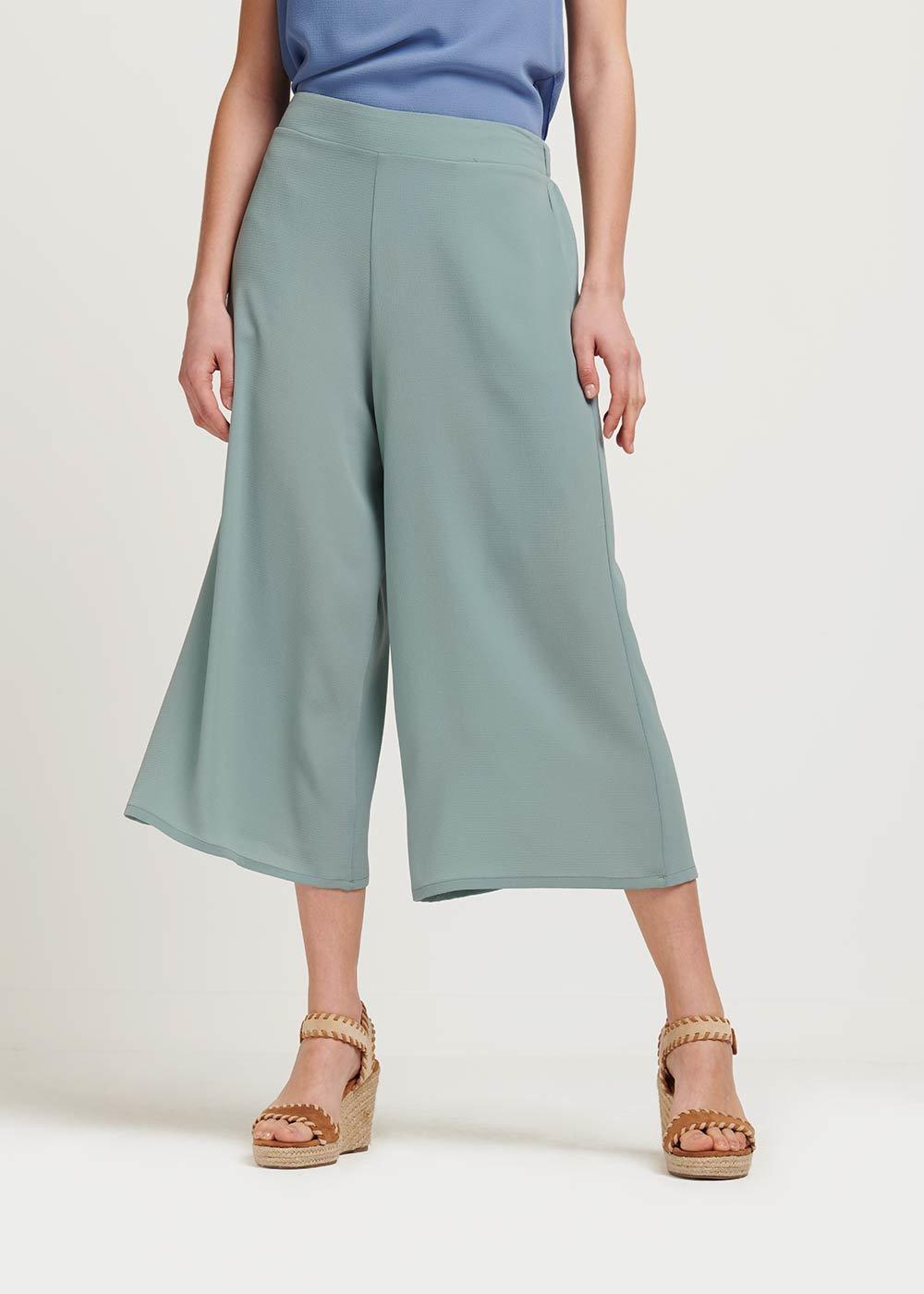 Megan capri pants with waist elastic band - Red - Woman