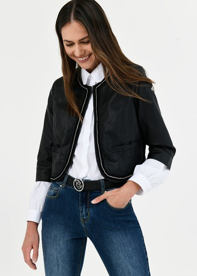 Clod faux-leather shrug