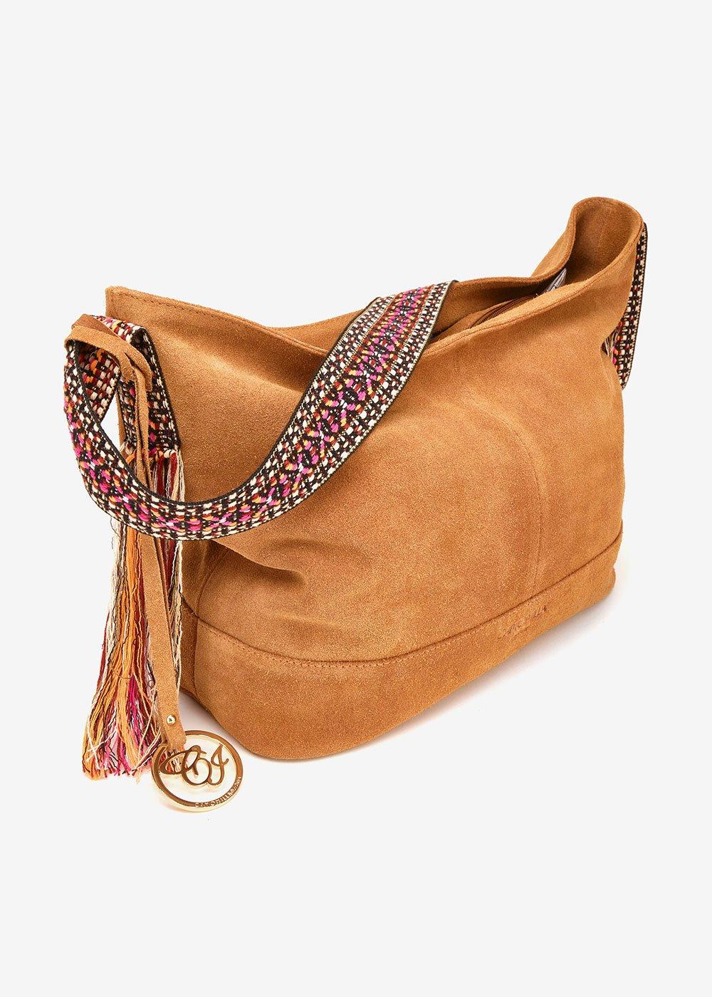 Barley suede bag - Brown - Woman