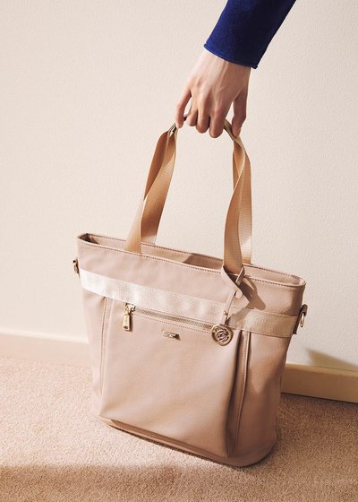 Becky multi-compartment shopping bag