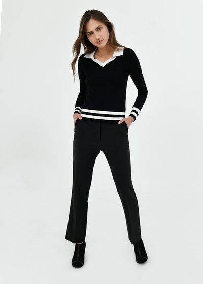 Pantalone Jacqueline con risvolto al fondo