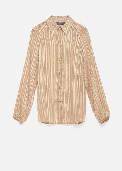 Camicia Carina a righe con lurex