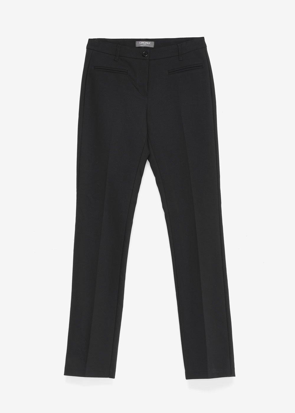Pantalone Miranda con tasche filetto - Black - Donna