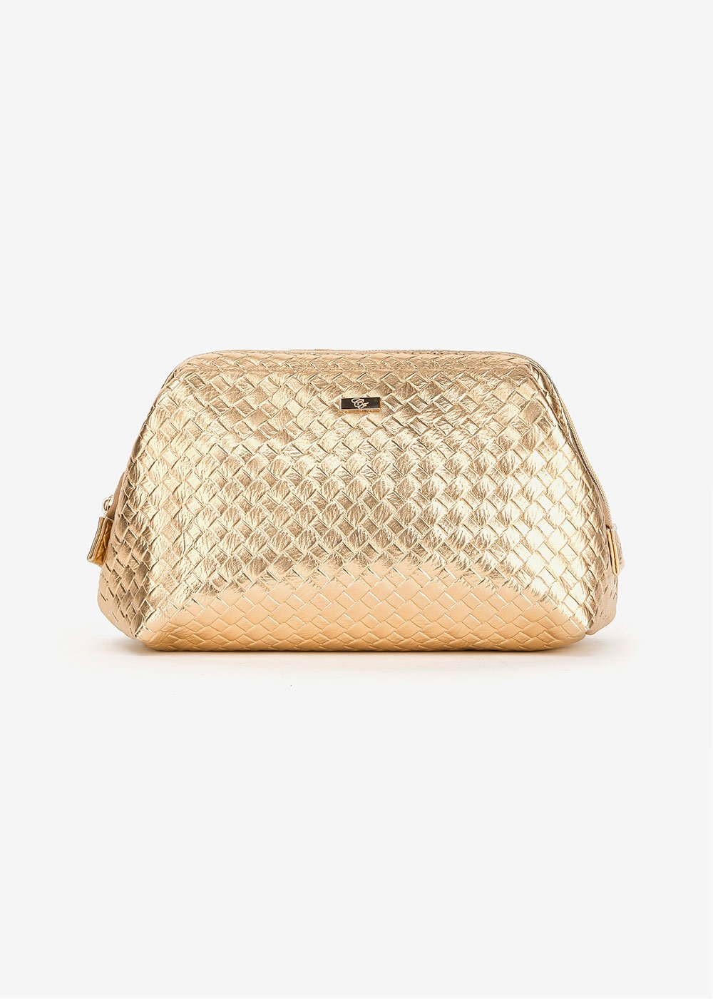 Benji vanity case with woven effect - Gold - Woman