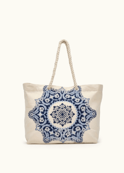 Shopping bag Brik in canvas e stampa frontale