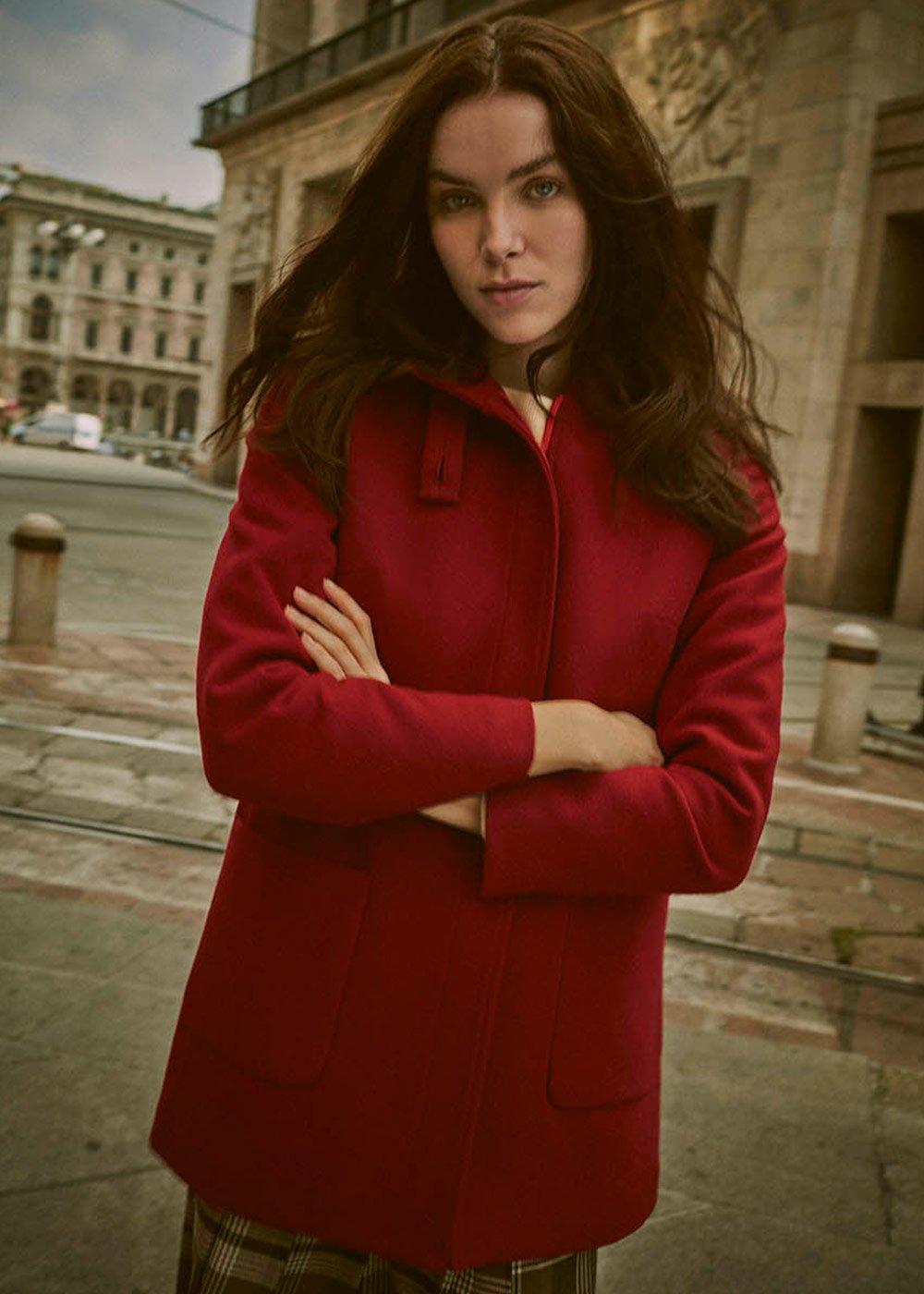 Costant purple coat - Purple - Woman