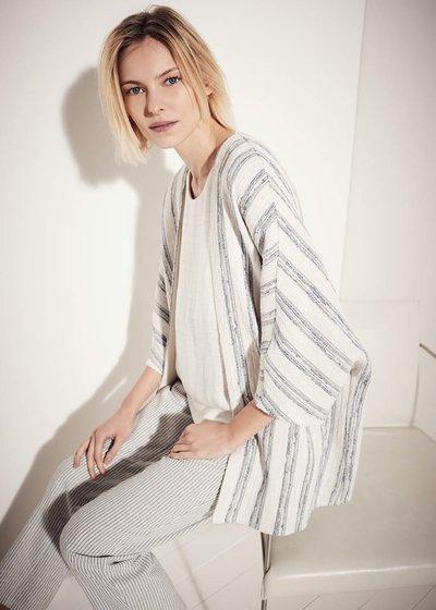 Sara pinstripe kimono shrug