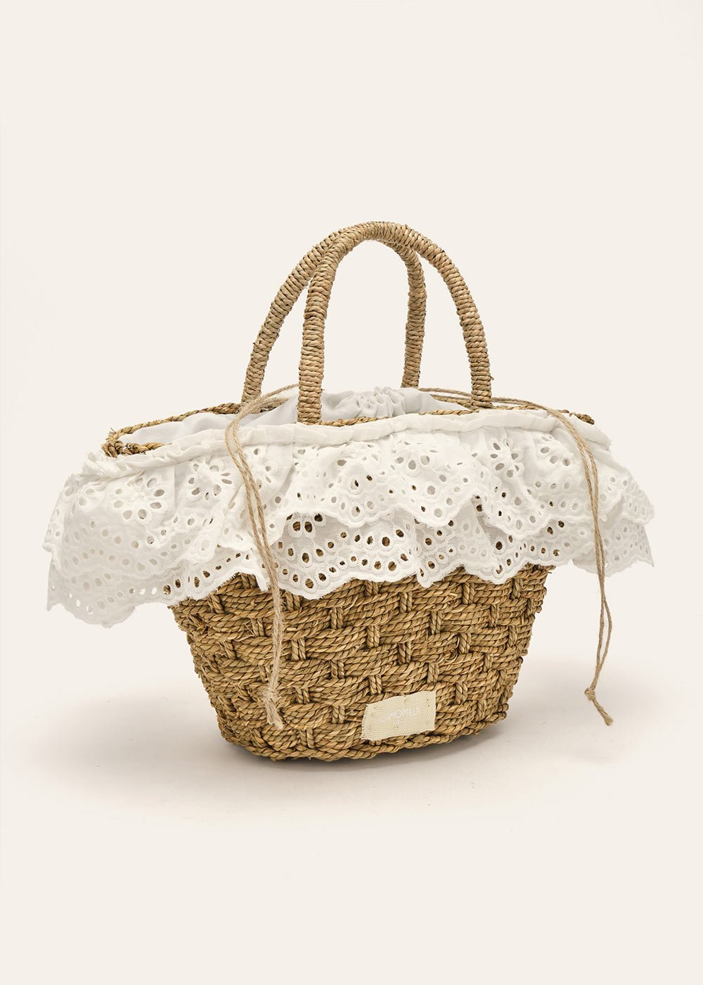 Bernie bag with broderie anglaise details - White - Woman