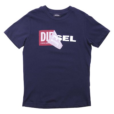 Navy blue cotton jersey t-shirt