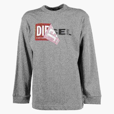 Dark grey double logo cotton jersey t-shirt