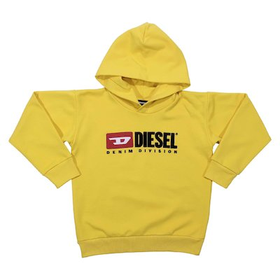 Yellow cotton sweatshirt hoodie