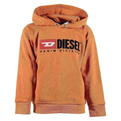 Orange cotton sweatshirt hoodie