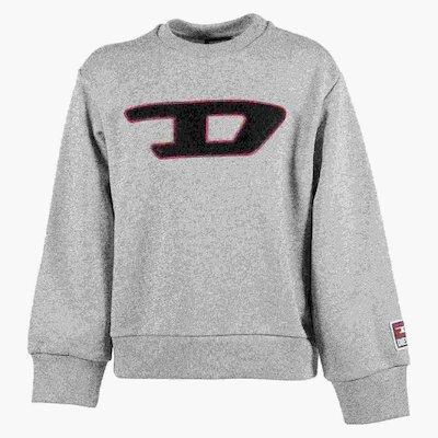 Marled grey logo detail cotton sweatshirt