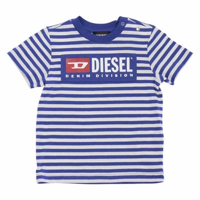 Stripe cotton jersey t-shirt