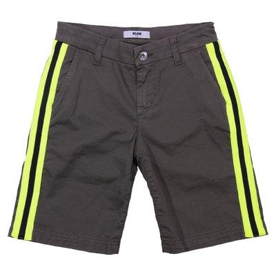 military green teen boy cotton gabardine shorts