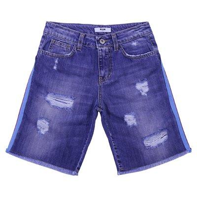 Denim cotton shorts