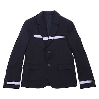 Black flece wool blend jacket