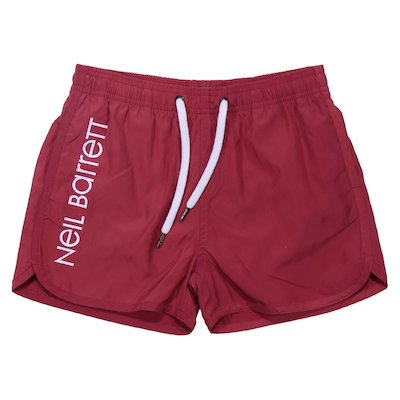 Red boy nylon swimshorts