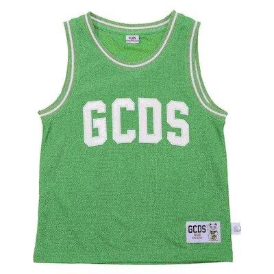Green mesh tank top