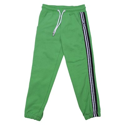 Green cotton sweatpants