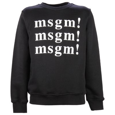 Black multi logo cotton sweatshirt