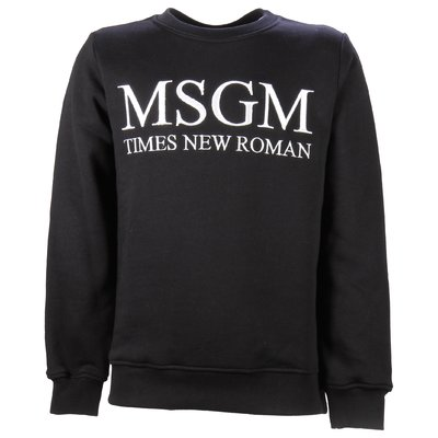 Black Times New Roman cotton sweatshirt