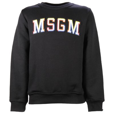 Black logo cotton sweatshirt