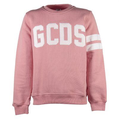 Pink logo detail cotton sweatshirt