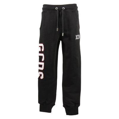 Black logo detail cotton sweatpants