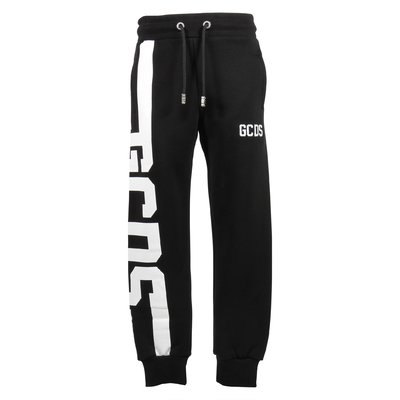 Black logo cotton sweatpants