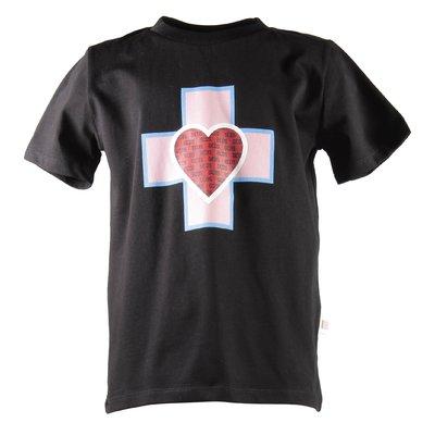 Black logo detail print cotton jersey t-shirt