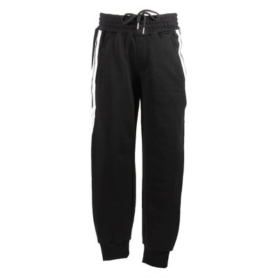 Black contrasting stripes sweatpants