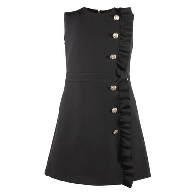 Black dress with golden buttons