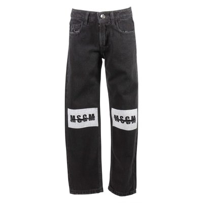 Black stretch denim cotton jeans