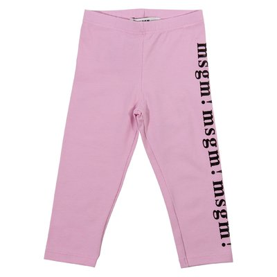 Pink elastic cotton leggings