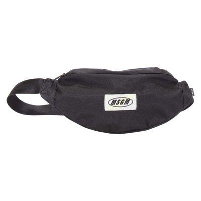 Black logo detail nylon belt bag