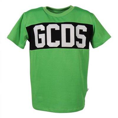T-shirt verde in misto cotone con logo