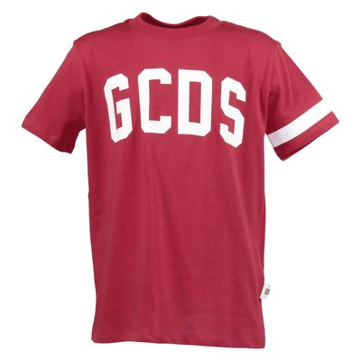 Red logo detail cotton jersey t-shirt