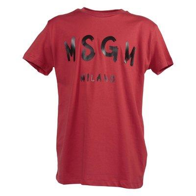 Red logo detail cotton jersey t-shirt