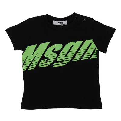 MSGM black logo cotton jersey t-shirt