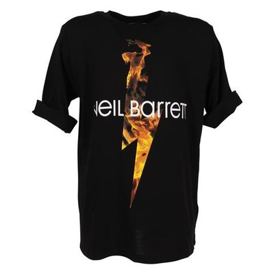 Black printed cotton jersey t-shirt