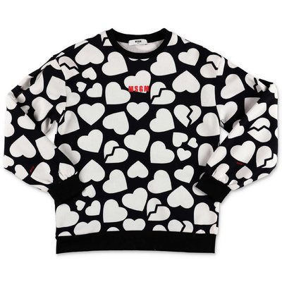 MSGM black & white cotton sweatshirt